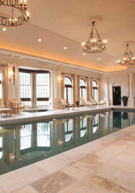 Swimming Pool Indoor Ideas: Earthy Atmosphere