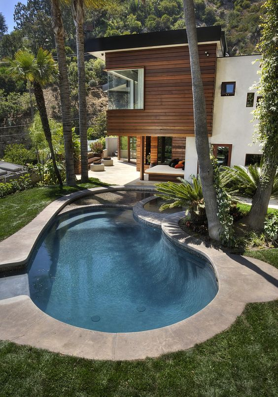 Swimming Pool Inground Ideas: Simple Earthy Style