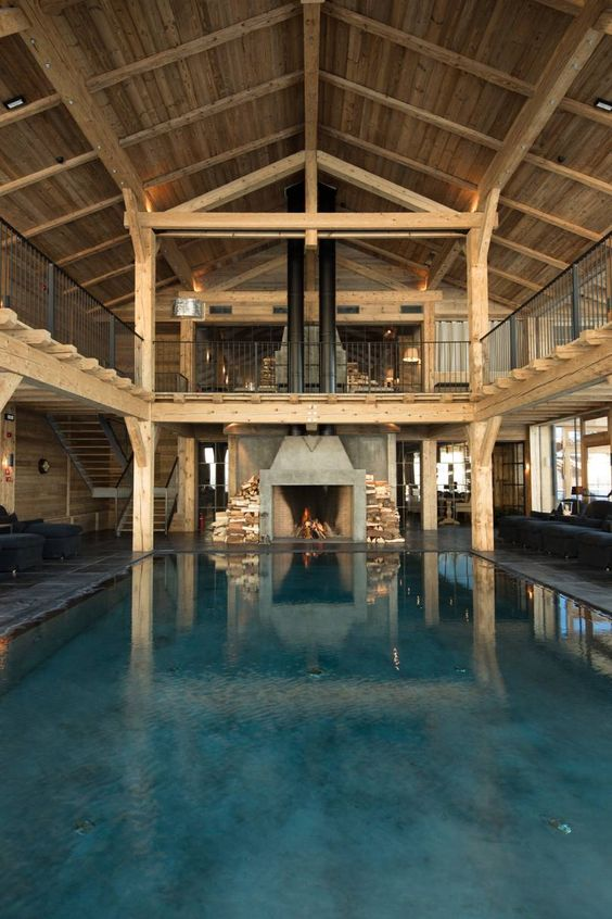 Swimming Pool Luxury Ideas: Gorgeous Industrial Pool