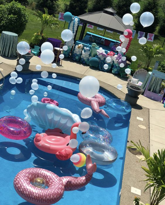 swimming pool party ideas 22