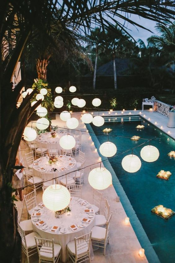 Swimming Pool Party Ideas: Elegant Area