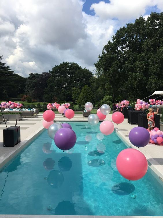 Swimming Pool Party Ideas: Colorful Items