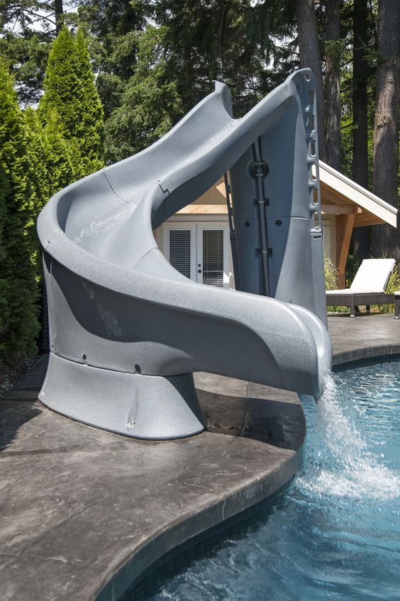 swimming pool with slides ideas 10