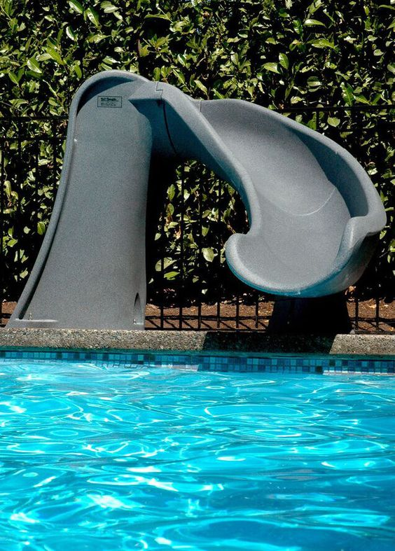 swimming pool with slides ideas 14
