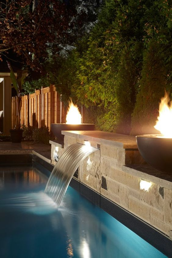swimming pool with waterfalls ideas 22