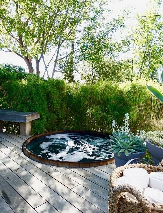 Wooden Hot Tub: Fresh In-ground Tub