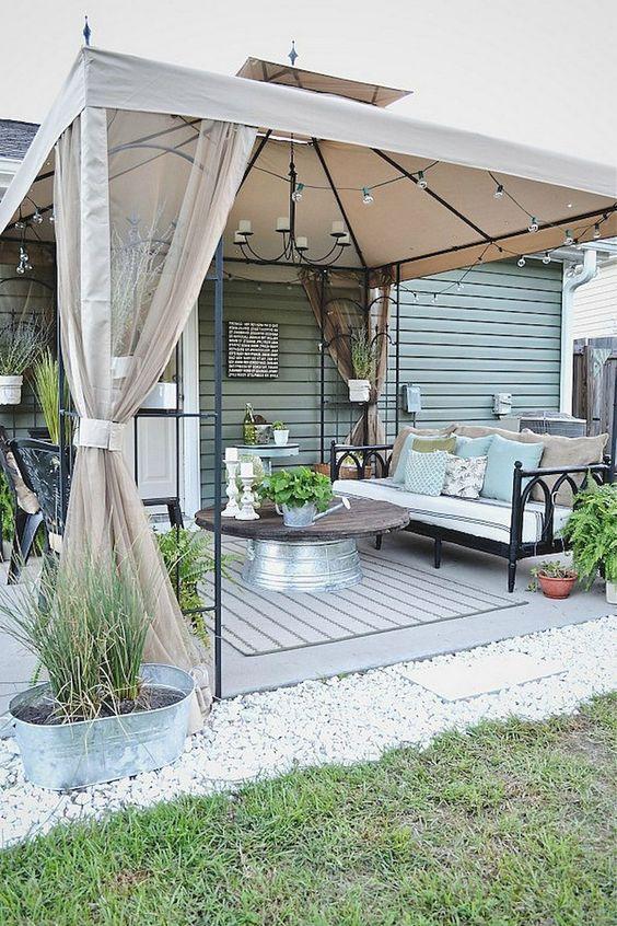 Backyard Canopy Ideas: Elegant Backyard Canopy