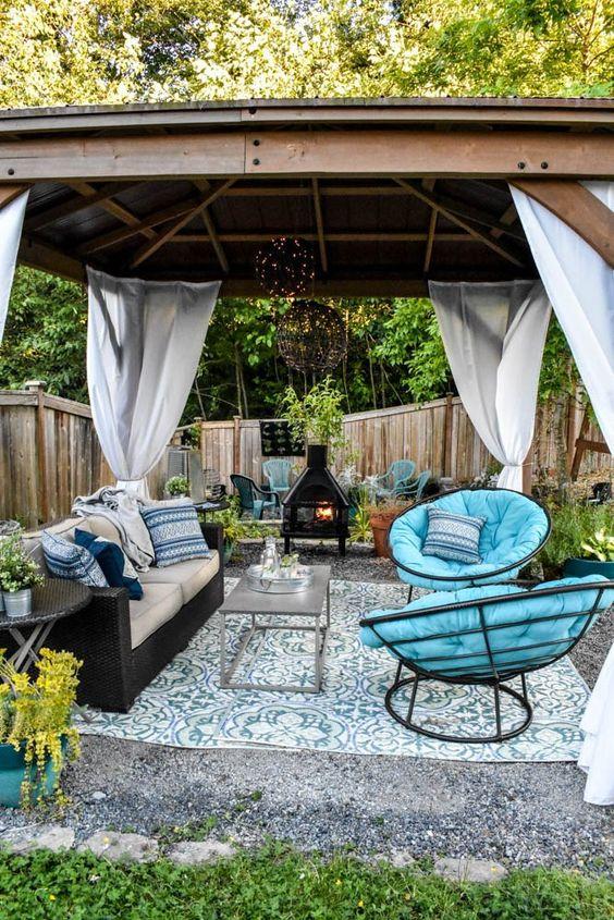 Backyard Canopy Ideas: Earthy Backyard Canopy