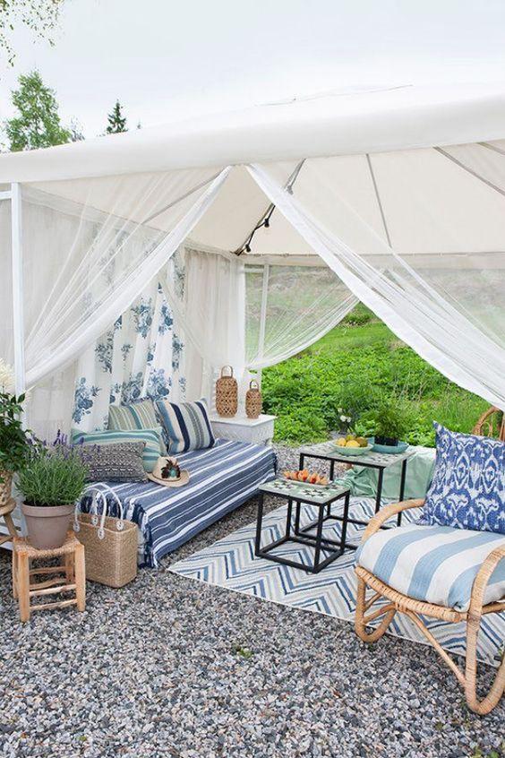 Backyard Canopy Ideas: Beachy Backyard View