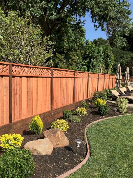 Backyard Fence: Earthy Vertical Fence