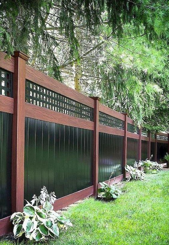 Backyard Fence: Bold Lattice Fence