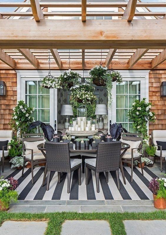 Backyard Pergola Ideas: Earthy Formal Area