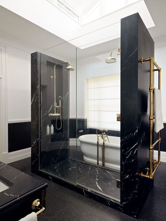 Bathroom Marble Ideas: Outstanding Black Marble