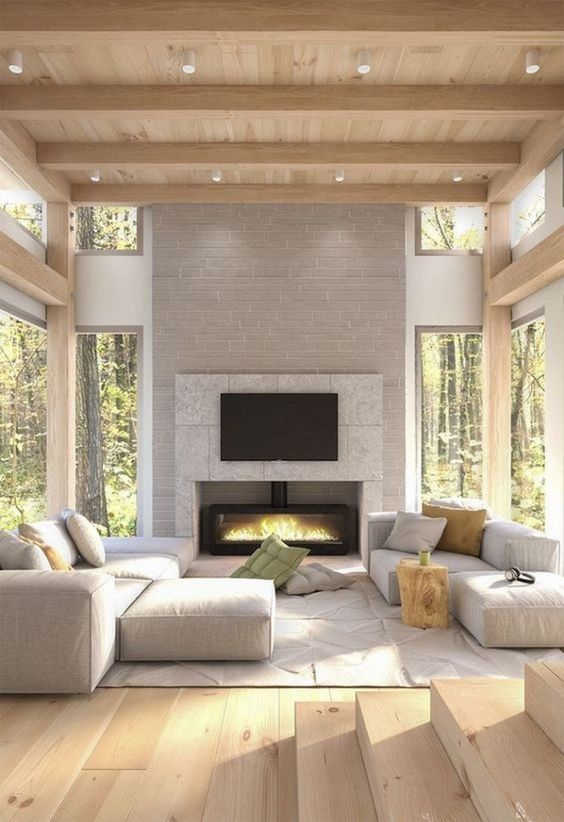 Contemporary Living Room Ideas: Earthy Rustic Room