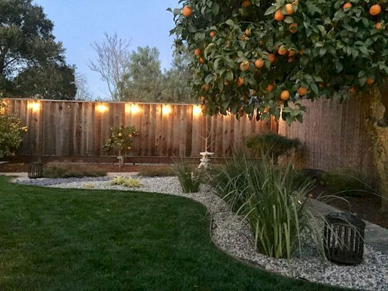 fence lighting feature