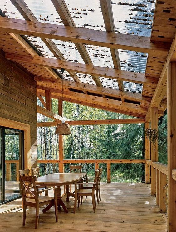 Patio Roof Ideas: Breathtaking Earthy Roof