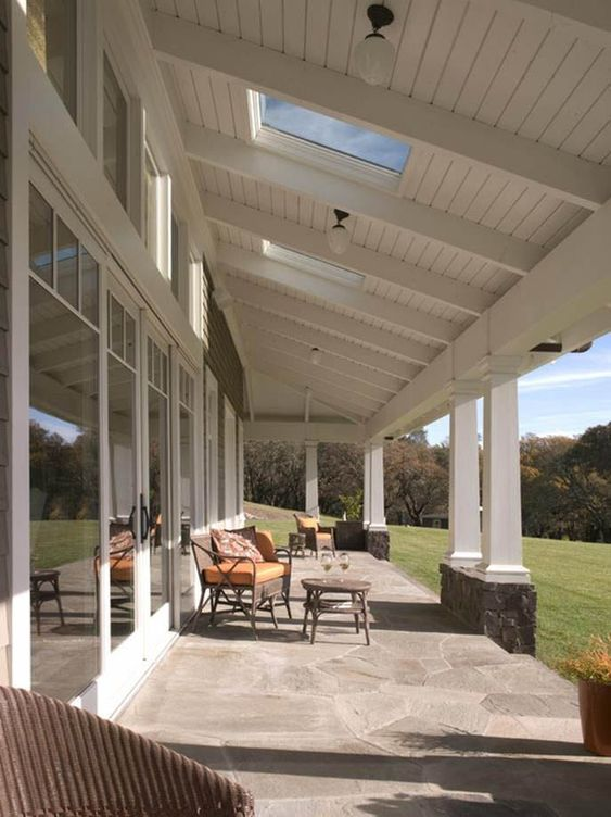 Patio Roof Ideas: Elegant Farmhouse Roof