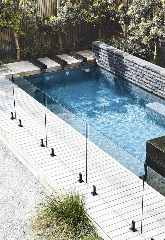 Pool Fence: Modern with Glass