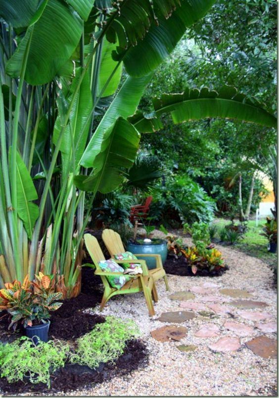 Tropical Backyard Ideas: Add Seating Area