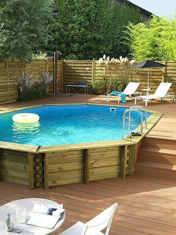 Above Ground Swimming Pool Ideas: Cozy Pool Area