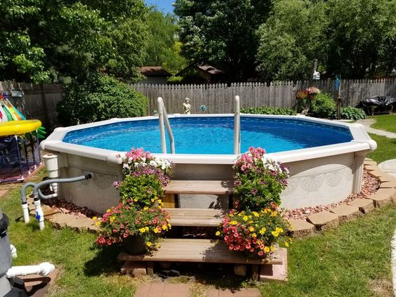 Above Ground Swimming Pool Ideas For Attractive Backyard Decortrendy