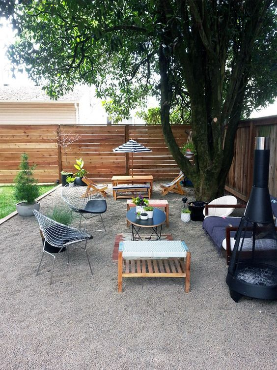 Gravel Patio Ideas: Cozy Gravel Area