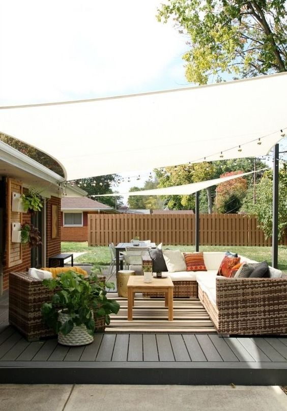 Patio Shade Ideas: Simple Fabric Shade
