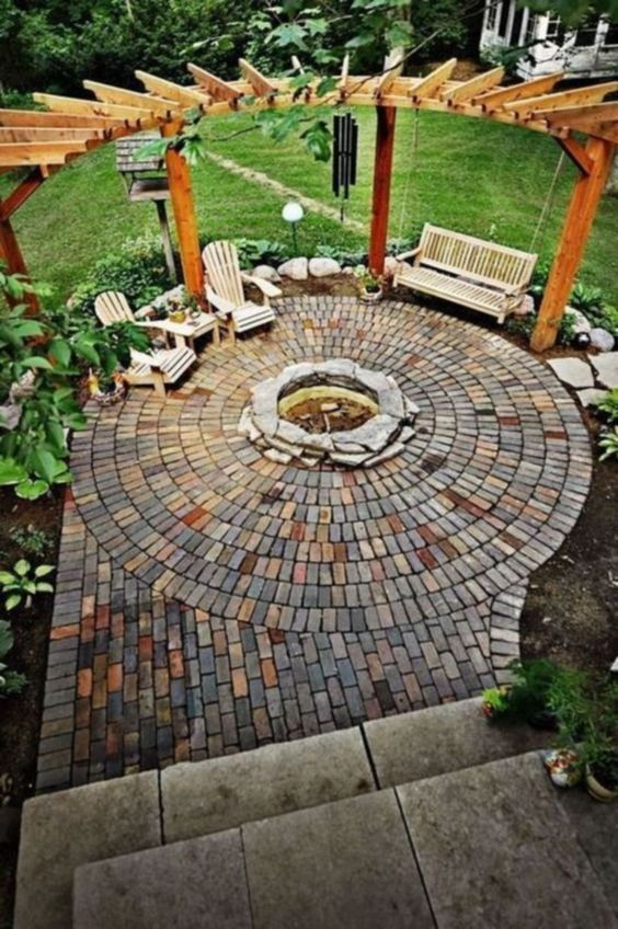 patio with fire pit ideas 12