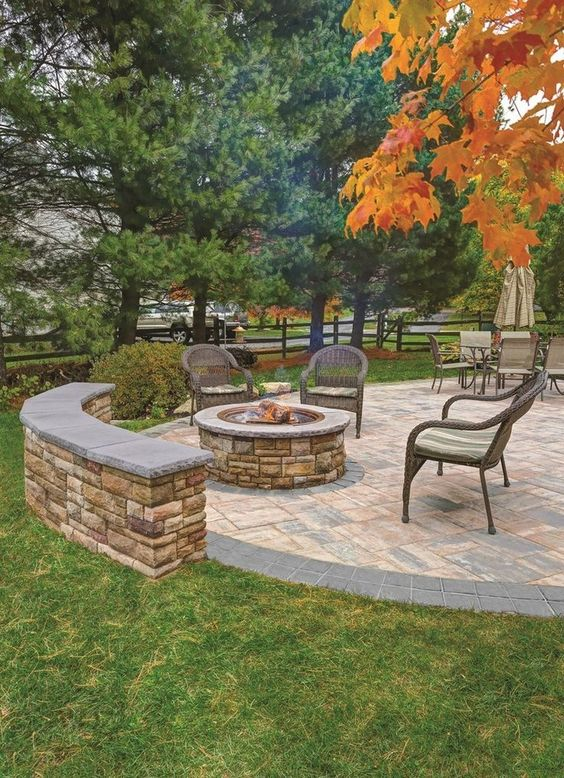 patio with fire pit ideas 13
