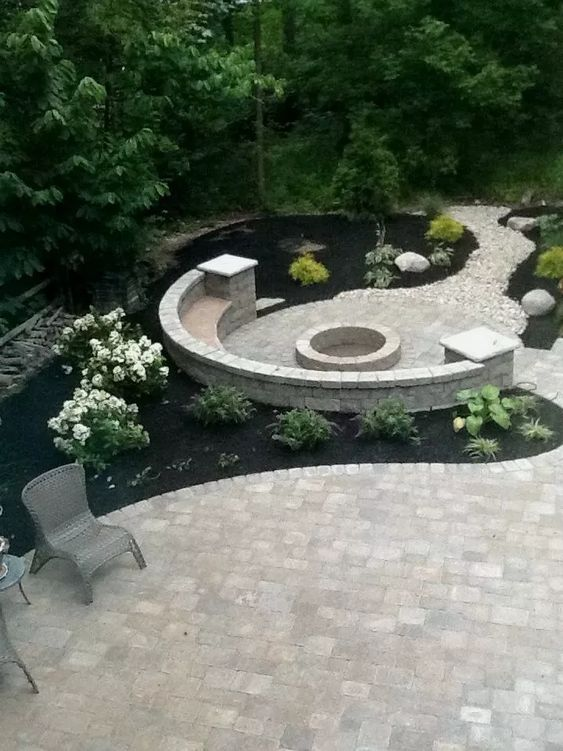 patio with fire pit ideas 14