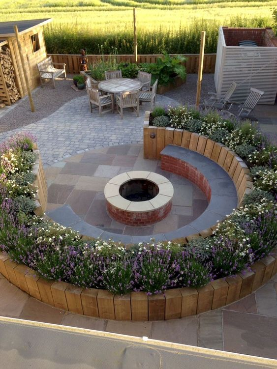 patio with fire pit ideas 16