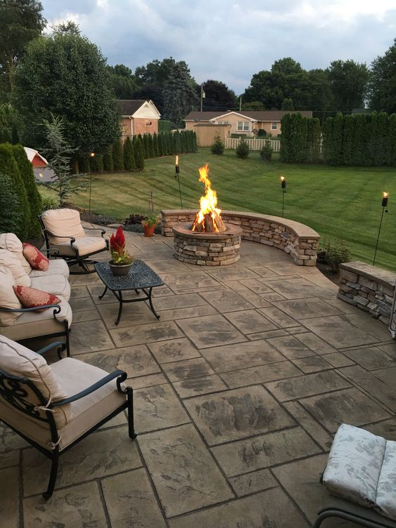 patio with fire pit ideas 7