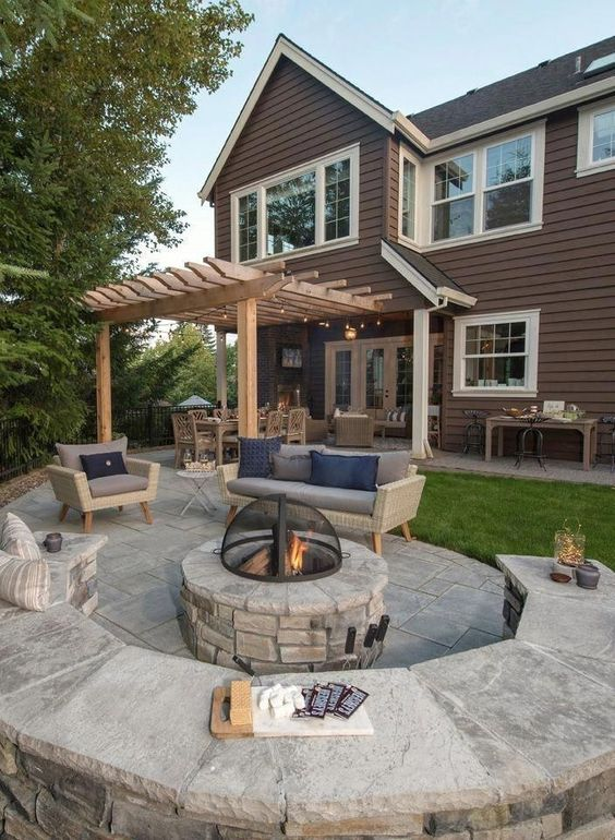 patio with fire pit ideas 9
