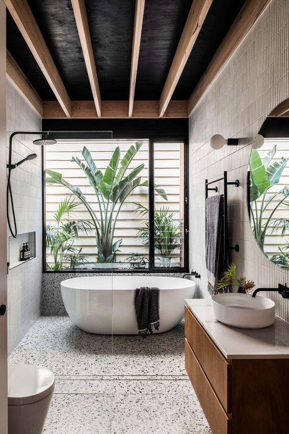 Contemporary Bathroom Ideas: Fresh Tropical View