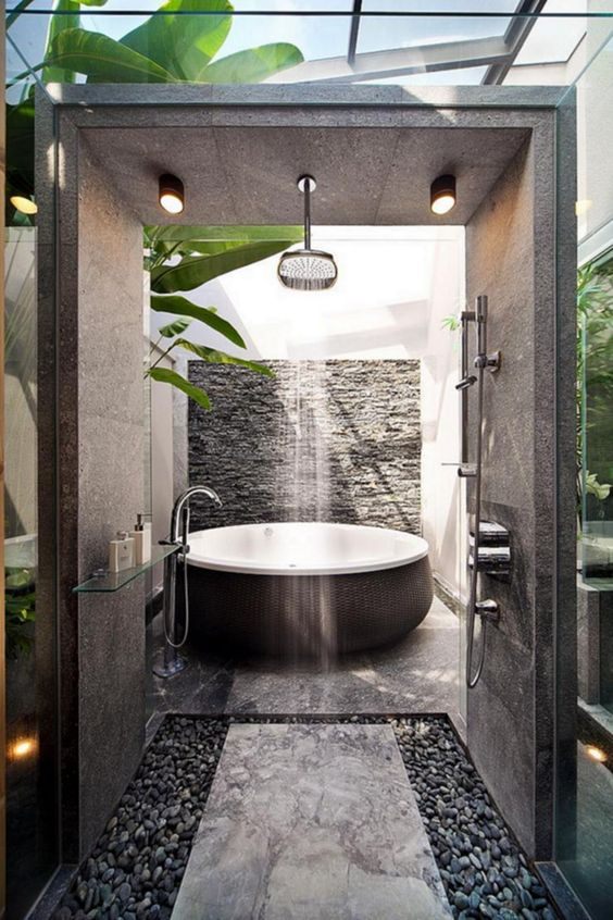 Contemporary Bathroom Ideas: Jaw-Dropping Open Shower