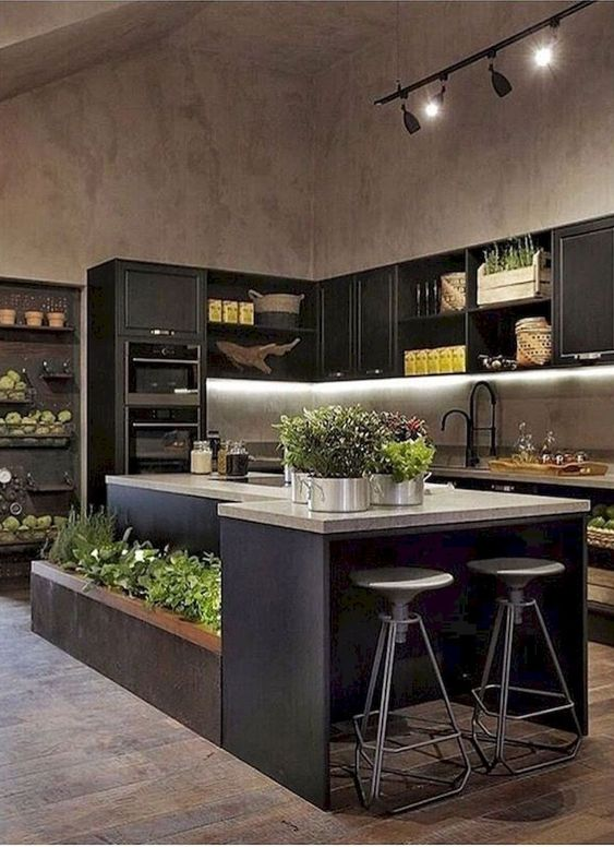 Contemporary Kitchen Ideas: Bold Focal Point