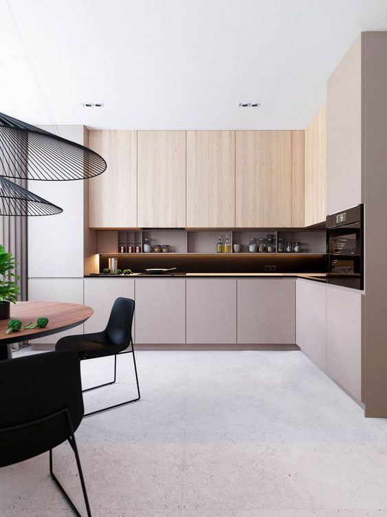 Contemporary Kitchen Ideas: Neat and Clutter-Free