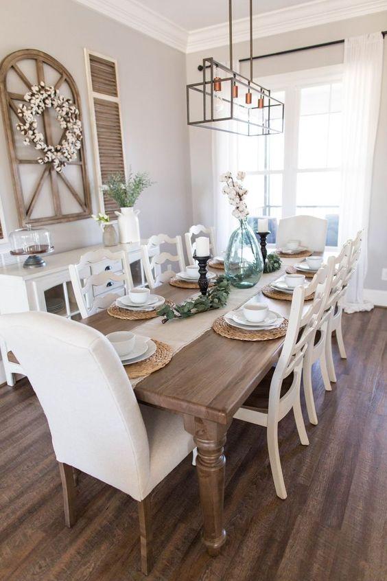Dining Room Decor Ideas: Stunning Rustic Farmhouse
