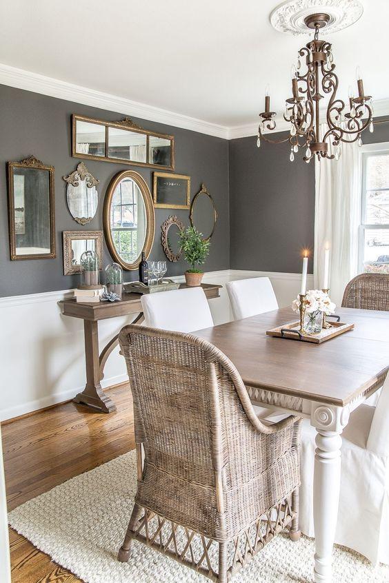 Dining Room Decor Ideas: Elegant Combination Color