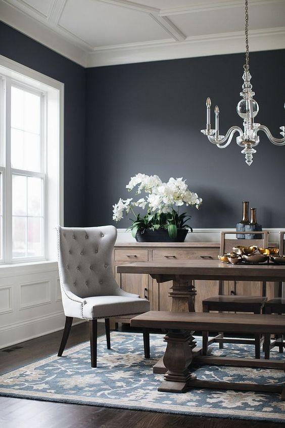 Dining Room Decor Ideas: Casual Dark Room