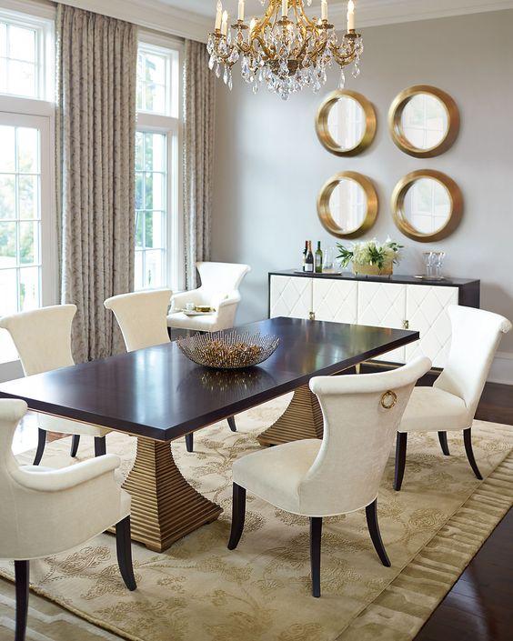 Dining Room Decor Ideas: Breathtaking Gold Room