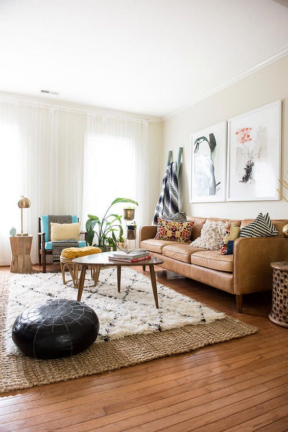 living room brown ideas 10