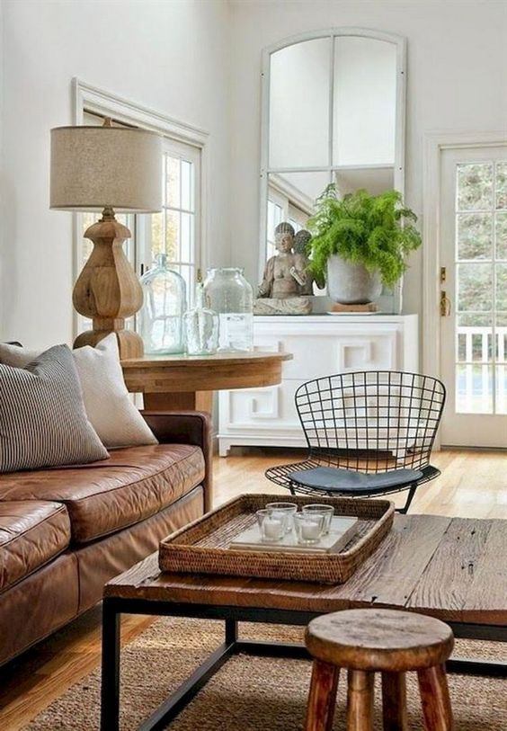 living room brown ideas 13