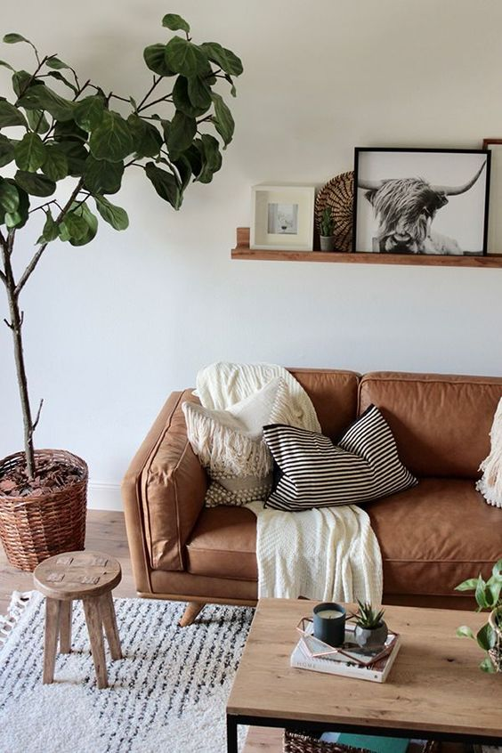 living room brown ideas 14