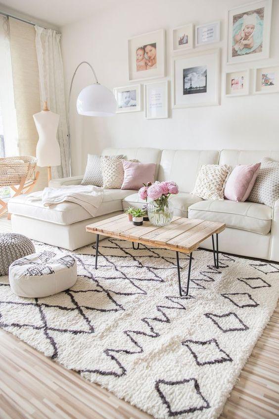 Living Room Rug Ideas: Fluffy Textured Rug