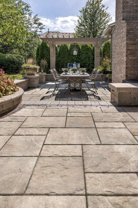 Patio Pavers Ideas: Earthy and Cozy