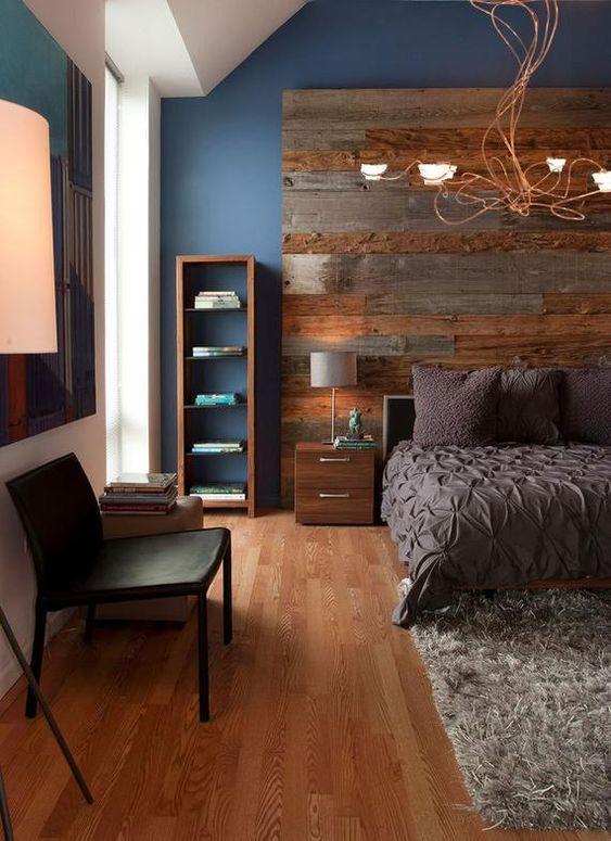 Bedroom Wood Ideas: Eye-Catching Headboard