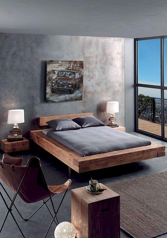Bedroom Wood Ideas: Wooden Bed Platform