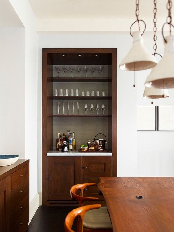Dining Room Bar Ideas: Simple Rustic Bar