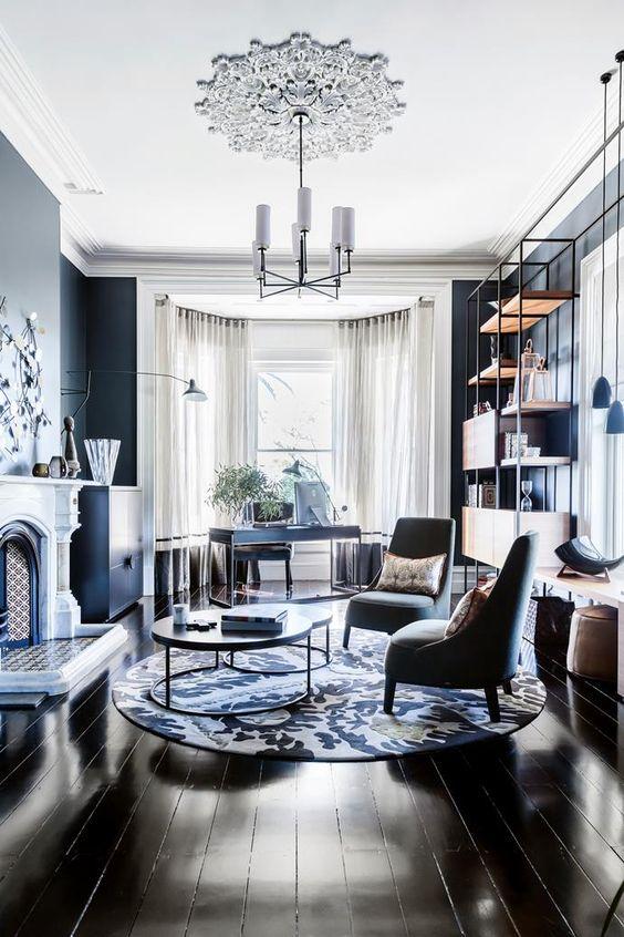 Living Room Lighting Ideas: Modern White Chandelier